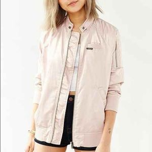 Members Only Pink Satin Jacket